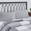Sawyer Mill Black Ruffled Ticking Stripe Pillowcase Set