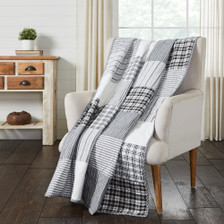 Sawyer Mill Black Block Quilted Throw