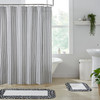 Sawyer Mill Black Ticking Stripe Shower Curtain