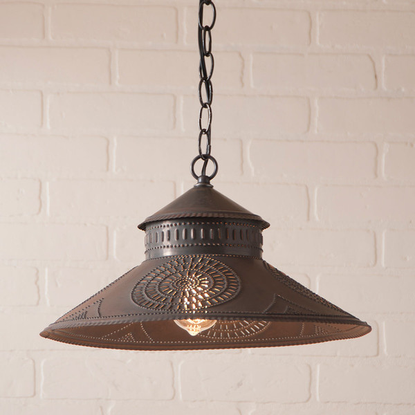 Shopkeeper Shade Light with Chisel Design