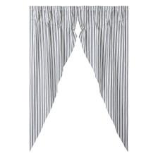 Sawyer Mill Black Ticking Stripe Prairie Long Panel Set
