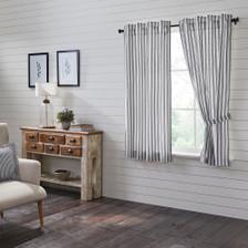 Sawyer Mill Black Ticking Stripe Short Panel Set