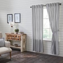 Sawyer Mill Black Ticking Stripe Panel Set