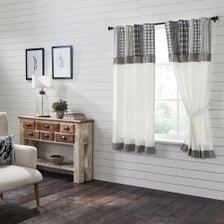 Sawyer Mill Black Short Panel with Attached Patchwork Valance Set