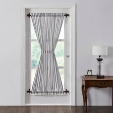 Sawyer Mill Black Ticking Stripe Door Panel