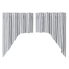 Sawyer Mill Black Ticking Stripe Swag Set