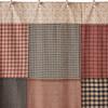 Maisie Patchwork Shower Curtain - Closeup