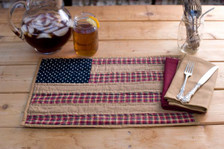 Patriotic Patch Quilted Placemats