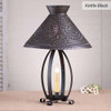 Betsy Ross Chisel Table Lamp in a Kettle Black Finish