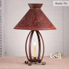 Betsy Ross Chisel Table Lamp in a Rustic Tin Finish
