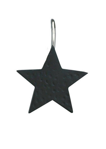 Black Star Shower Curtain Hook