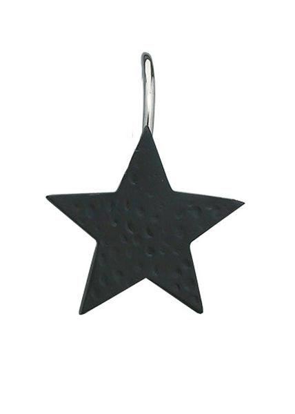 Black Star Shower Curtain Hook