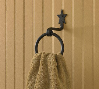 Black Star Ring Towel Hand Forged Hook By Park Designs