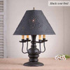 Cedar Creek Table Lamp in Black over Red