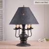 Cedar Creek Table Lamp in Black over Red