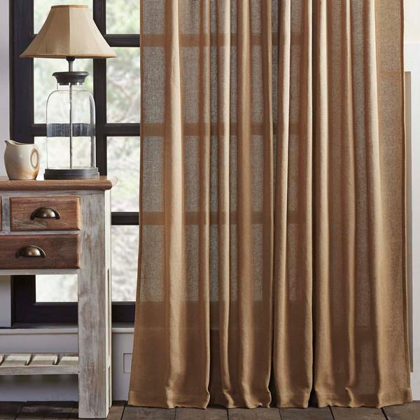 Burlap Natural Curtain Panel Set