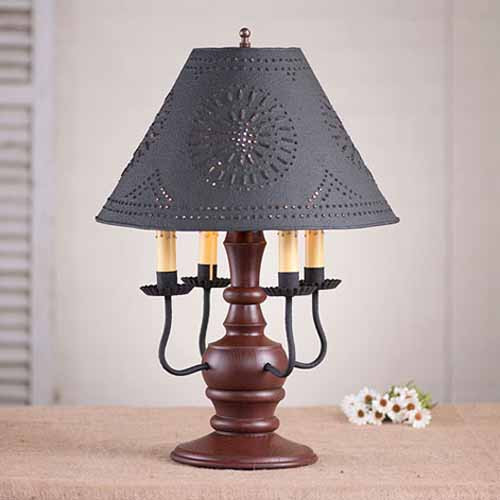 Cedar Creek Table Lamp in Sturbridge Red