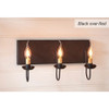 Three-Arm Vanity Light in Black over Red