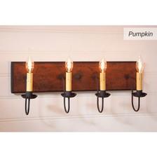 Four-Arm Vanity Light in Pumpkin