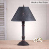 Gatlin Table Lamp in Hartford Black w/ Red Stripe