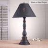 Davenport Lamp in Hartford Black w/ Red Stripe