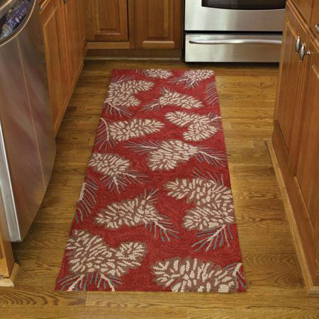 Pinecone Hooked Rug Runner By Park Designs