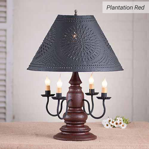 Harrison Table Lamp in Plantation Red