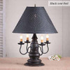 Harrison Table Lamp in Black over Red