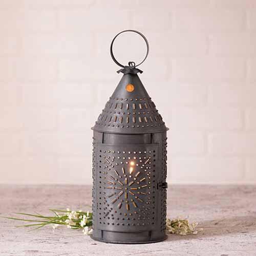 """15"""" Revere Lantern in Black"""
