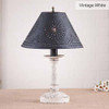 Butcher's Chamberstick Lamp in Vintage White