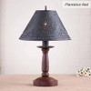 Butcher's Chamberstick Lamp in Plantation Red