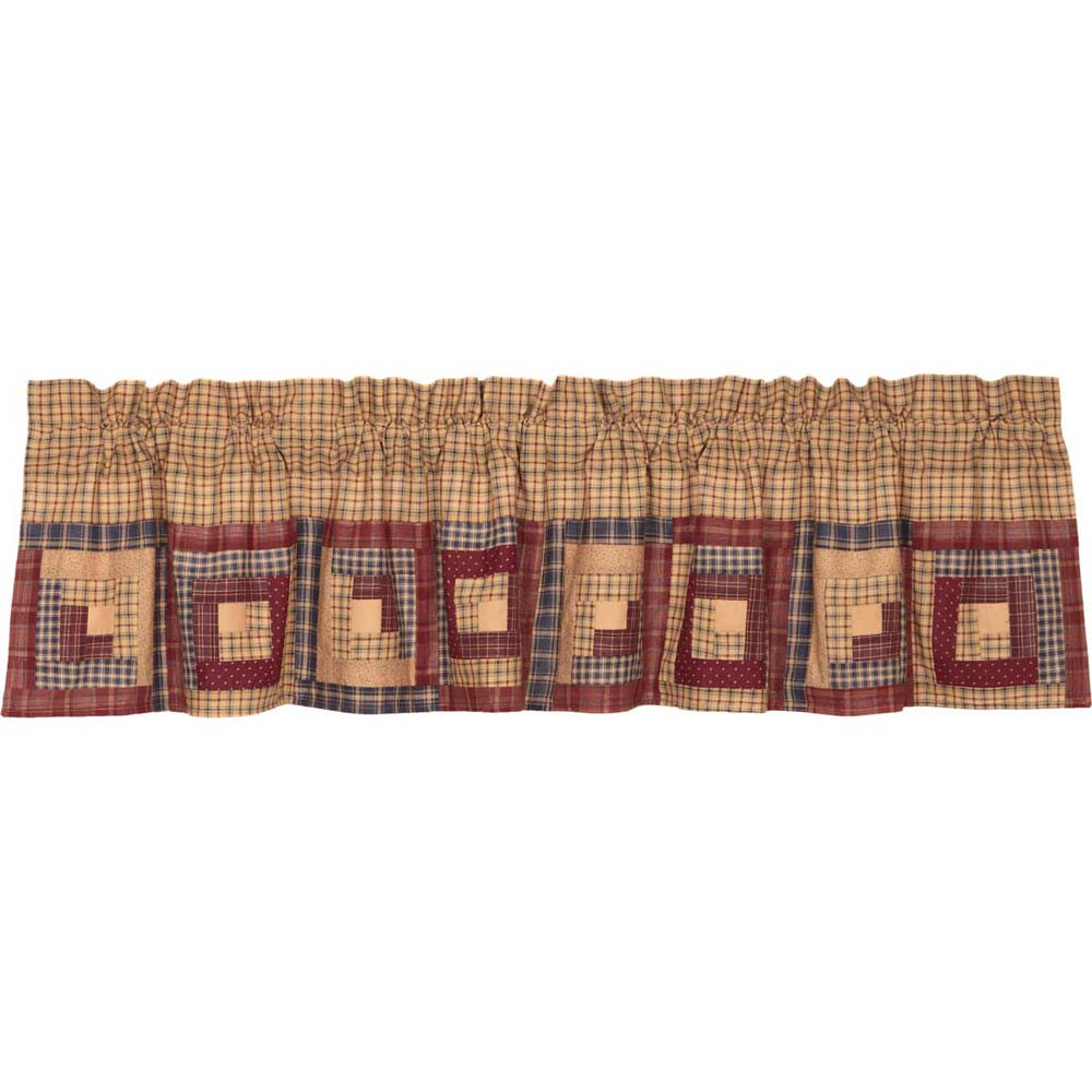 Millsboro Log Cabin Block Border Valance By Vhc Brands