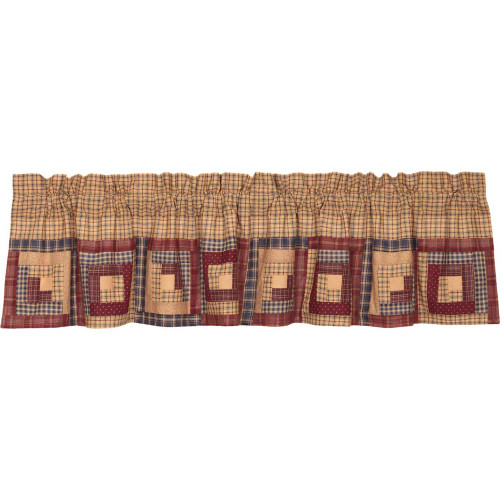 Millsboro Log Cabin Block Border Valance