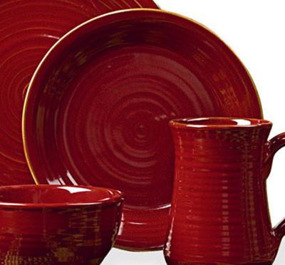 Aspen Red Salad Plate