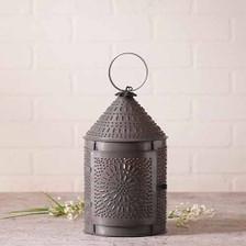 Fireside Lantern in a Blackened Tin Finish