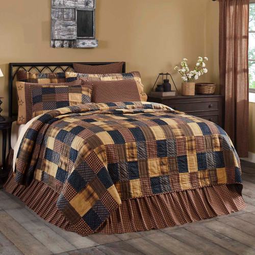 Patriotic Patch Luxury King Quilt