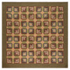 Tea Cabin Luxury King Quilt Flat