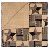 Bingham Star Twin Quilt Folded