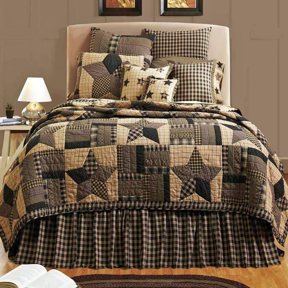 Bingham Star Twin Quilt By Vhc Brands