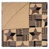 Bingham Star Luxury King Quilt Folded