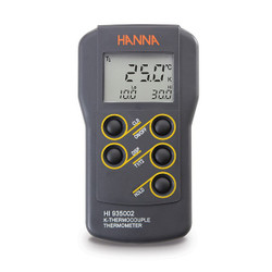 Hanna HI-935002 Dual Channel K-Type Thermocouple Thermometer | Thermometer Point