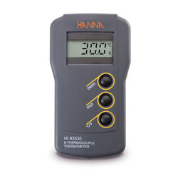 Hanna HI-93530 Waterproof 0.1° Resolution K-Type Thermocouple Thermometer | Thermometer Point