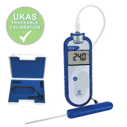 Comark C12 Thermometer Kit Includes Two Probes + FREE UKAS Traceable Calibration