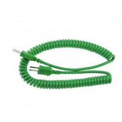 KMPC2MP - K Type 2m Curly Cable Mini Plug to Mini Plug   Thermometer Point