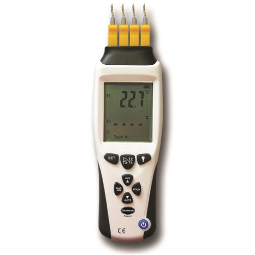 K-Type/J-Type Thermocouple Thermometers with 4 Inputs | Thermometer Point