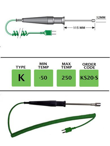 TME KS20-S - High-Speed Dual Probe 115mm x 12mm - Surface & Immersion | Thermometer Point