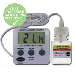Calibrated Fridge Freezer Thermometer With Vaccine Bottle Probe | Thermometer Point