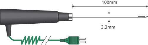 Comark AK27M General Purpose Air Probe - Fast Response Type K Thermocouple