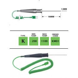 KM01 - K Type General Purpose (MI) Probe 100mm x 1.5mm | Thermometer Point