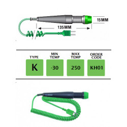 KH01- K Type Handle For Plug Mounted Probes   Thermometer Point